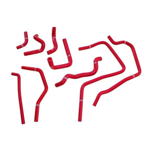 Mishimoto Silikon Zusatz Schlauch Kit Subaru WRX / 01-05 / rot