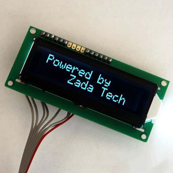 Zada Tech LCD 16x2 / weiße Schrift