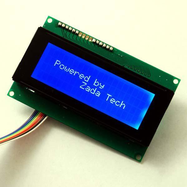 Zada Tech LCD 20x4 / blaue Schrift