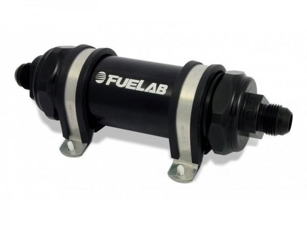 FueLab Benzinfilter / Kraftstofffilter mit Rückschlagventil 40micron -8AN